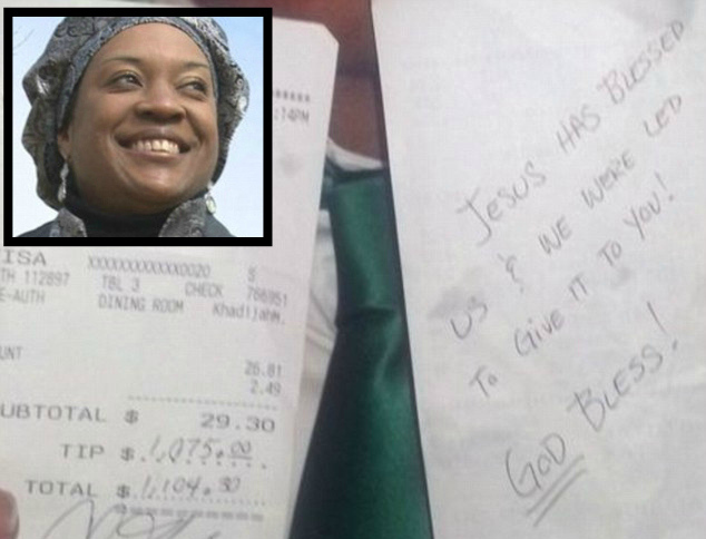 Tennessee Waitress Gets Blessed With ,075 Tip On .30 Bill | News One
